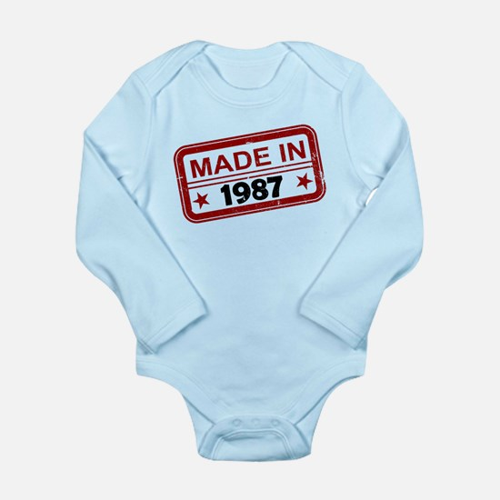Stamped Made In 1987 Long Sleeve Infant Bodysuit