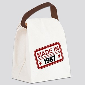 Stamped Made In 1987 Canvas Lunch Bag