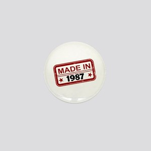 Stamped Made In 1987 Mini Button