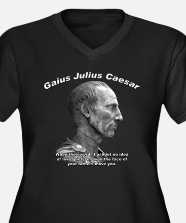 Julius Caesar 02 Women's Plus Size V-Neck Dark T-S