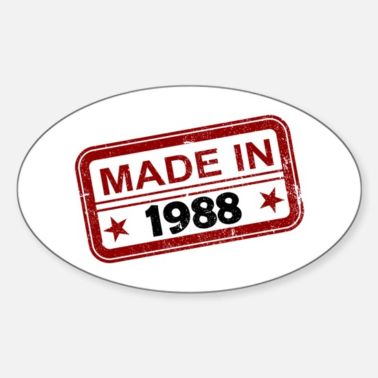 Stamped Made In 1988 Oval Decal