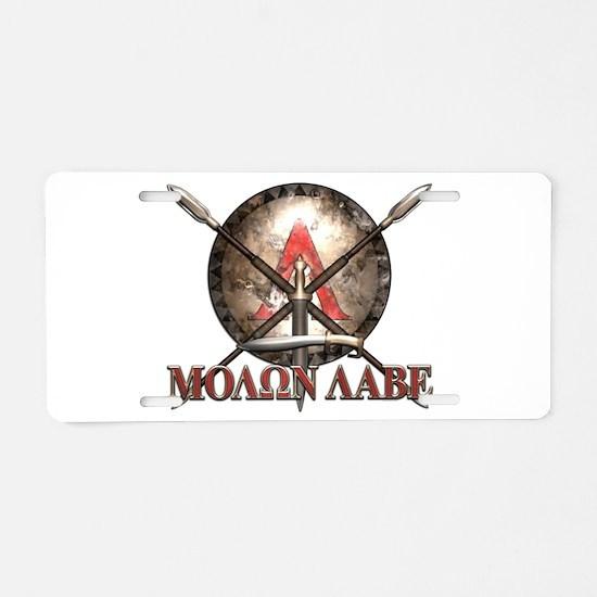 Molon Labe - Spartan Shield and Swords Aluminum Li