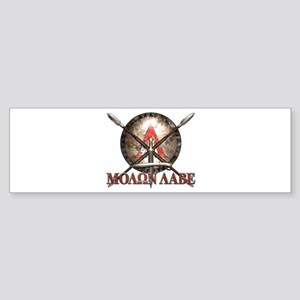 Molon Labe - Spartan Shield and Swords Bumper Stic