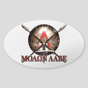 Molon Labe - Spartan Shield and Swords Sticker