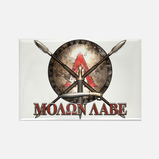 Molon Labe - Spartan Shield and Swords Magnets