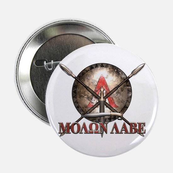 """Molon Labe - Spartan Shield and Swords 2.25"""" Butto"""