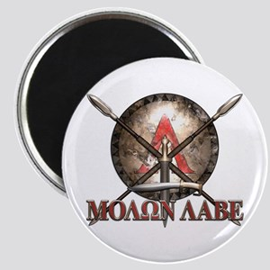 Molon Labe - Spartan Shield and Swords Magnets