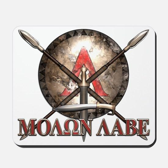 Molon Labe - Spartan Shield and Swords Mousepad