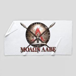 Molon Labe - Spartan Shield and Swords Beach Towel