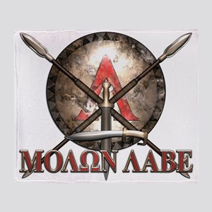 Molon Labe - Spartan Shield and Swords Throw Blank