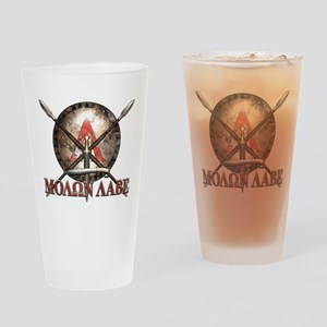 Molon Labe - Spartan Shield and Swords Drinking Gl