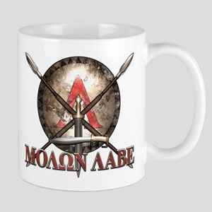 Molon Labe - Spartan Shield and Swords Mugs