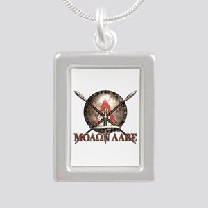 Molon Labe - Spartan Shield and Swords Necklaces