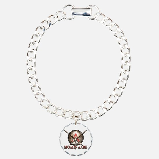 Molon Labe - Spartan Shield and Swords Bracelet