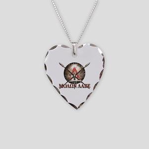 Molon Labe - Spartan Shield and Swords Necklace
