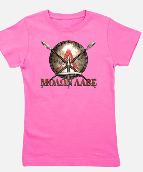 Molon Labe - Spartan Shield and Swords Girl's Tee