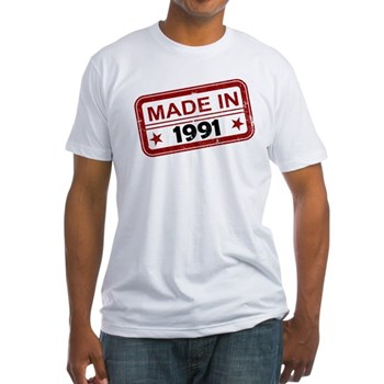 Stamped Made In 1991 Fitted T-Shirt