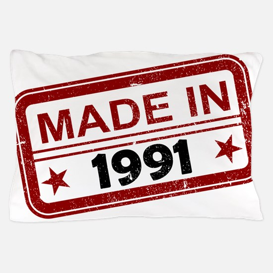Stamped Made In 1991 Pillow Case
