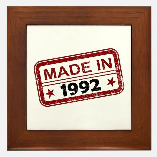 Stamped Made In 1992 Framed Tile