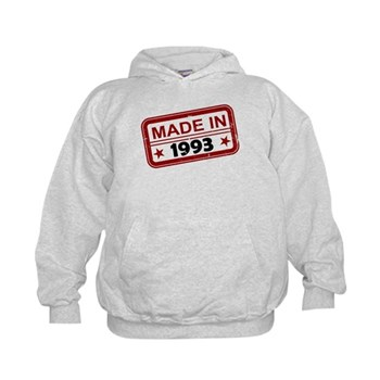 Stamped Made In 1993 Kid's Hoodie