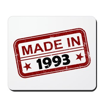Stamped Made In 1993 Mousepad