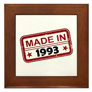 Stamped Made In 1993 Framed Tile