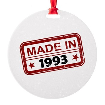 Stamped Made In 1993 Round Ornament