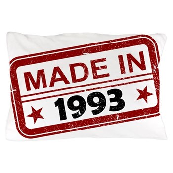 Stamped Made In 1993 Pillow Case