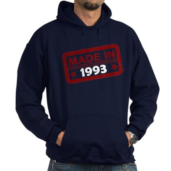 Stamped Made In 1993 Dark Hoodie