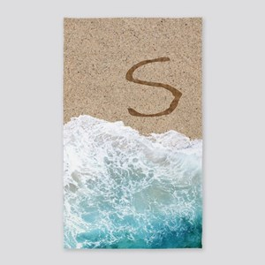 LETTERS IN SAND S 3'x5' Area Rug