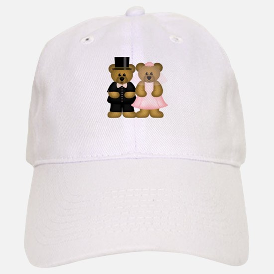 Wedding Bears Baseball Baseball Cap