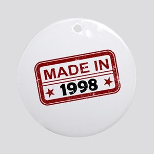 Stamped Made In 1998 Round Ornament
