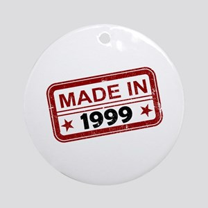 Stamped Made In 1999 Round Ornament