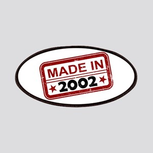 Stamped Made In 2002 Patches