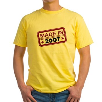 Stamped Made In 2007 Light T-Shirt