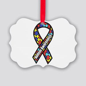 Awareness Ribbon Scanned 2 Picture Ornament