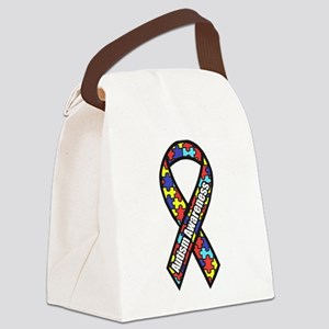 awareness ribbon scanned 2 Canvas Lunch Bag