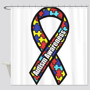 awareness ribbon scanned 2 Shower Curtain