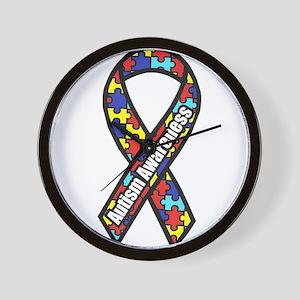 awareness ribbon scanned 2 Wall Clock