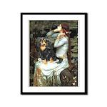 Ophelia & Cavalier (BT) Framed Panel Print