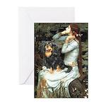 Ophelia & Cavalier (BT) Greeting Cards (Pk of 10)