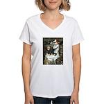 Ophelia & Cavalier (BT) Women's V-Neck T-Shirt