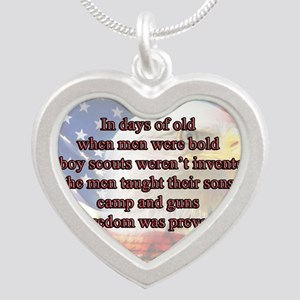 In Days of Old... Silver Heart Necklace