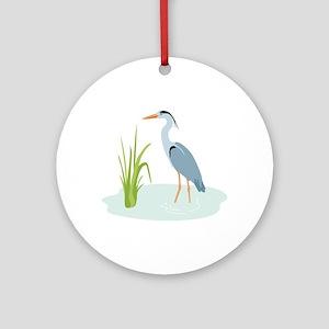 Blue Heron Ornament (Round)