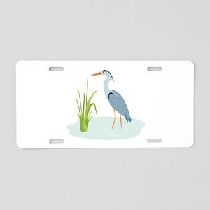 Blue Heron Aluminum License Plate