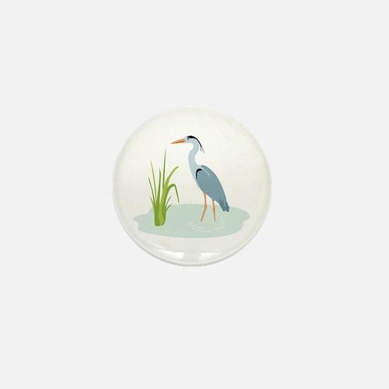 Blue Heron Mini Button