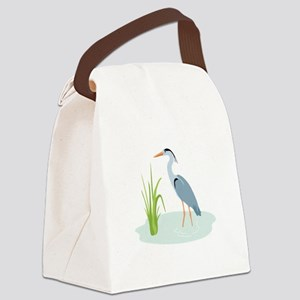 Blue Heron Canvas Lunch Bag