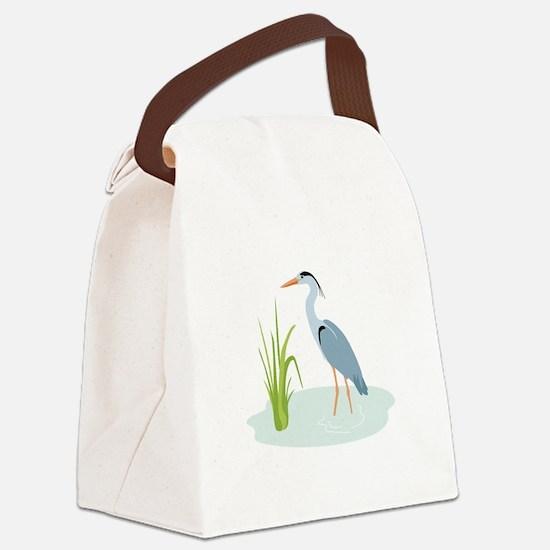 Blue Heron Canvas Lunch Bag