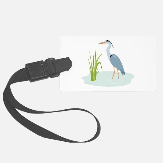 Blue Heron Luggage Tag