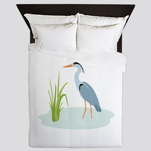 Blue Heron Queen Duvet